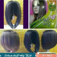 hairclip / hair clip / extention / halfwig rambut pendek / bob