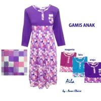 AILA Gamis Anak Perempuan/Baju Muslim / Dress Murah  Anne Claire
