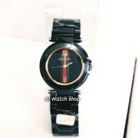jam tangan,gucci kramik wanita origin,warna black exclusif