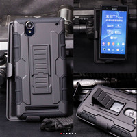 Sony Xperia T2 Ultra Bumper Armor Dual Layer Full Protection