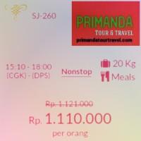Tiket Sriwijaya Air Jakarta-Bali Promo Tgl 28/12/2016