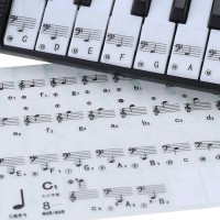 stiker/sticker nada dan notasi balok untuk papan tuts piano/keyboard