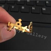 Cincin Nama Font Arab Custom Lapis Emas