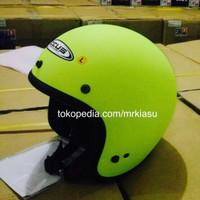Zeus 385 matt neon yellow fluo helm retro bogo M L XL