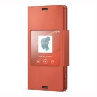 SONY Style Cover Window SCR26 Xperia Z3 Compact Original - Orange