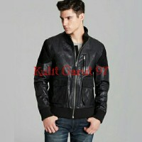 Jaket Kulit Asli Garut KG 417 New Bomber Style