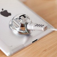 iLock Ingamar - Super Suction Tablet PC Holder and Lock - Silver