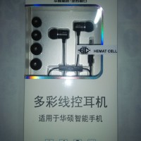 earphone headaet asus zenfone 2 4 5 6 headsed original 100%