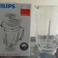 Gelas Kaca Blender Philips Ori HR 2115, HR 2116, HR 2061, HR 2071