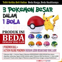 Pokeball Pokemon Ball Ukuran 1:1 + Action Figure Pokemon