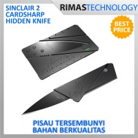 Sinclair 2 Cardsharp Hidden Knife Pisau Lipat ATM Tajam Anti Karat