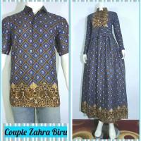 Jual Couple Zahra (Gamis batik+Kemeja) Murah