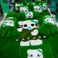 harga kasur lantai / karpet karakter hello kitty rok hijau Tokopedia.com