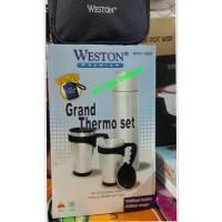 termos stainless stail 1000 ml/ grand thermo set 2 pcs /bottle WESTON