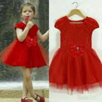 DRESS KIDS KAKA MERAH