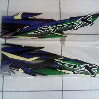 Striping Supra X 2003 biru hitam hijau