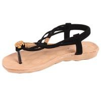 Yingwei Women Summer Sandals Casual Beach Shoes Black