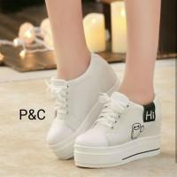 harga sepatu wanita casual sneakers wedges karakter lucu terbaru Tokopedia.com