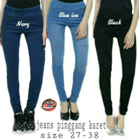 Jual celana jeans pinggang karet | celana jeans wanita | celana jeans cewek Murah