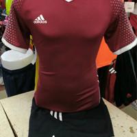 Setelan Jersey Bola Futsal Lokal Polosan MU Away Adidas Maroon