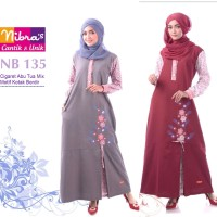 Baju Gamis Murah Bahan Katun Nibras NB 135