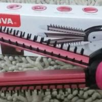 Jual Catok Nova 3in1 Iron Brush / Catokan Sisir + Keriting + Lurus/pelurus Murah
