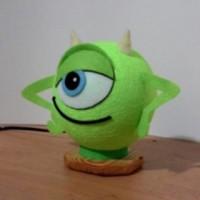 Lampu Hias / Tidur Mike (Monster Inc) dari Kayu & Benang