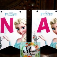 BUNTING FLAG HAPPY BIRTHDAY / TEDAK SITEN / ULANG TAHUN FROZEN 1
