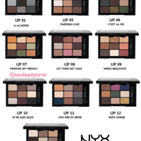 Nyx Love in Paris Eyeshadow Pallette