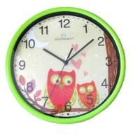 Meridient Jam Dinding Anak - Owl Burung Hantu (hijau)