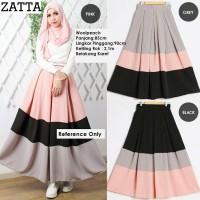 Baju Bawahan Wanita Muslim / Skirt / Woolpeach Crepe Zalora 3 Color