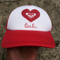 Topi Roxy Stand Alone BALI Trucker Original Red White
