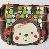DIAPER BAG - CARTERS MONKEY SIZE LARGE