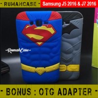 Samsung J5 & J7 2016 - Batman Vs Superman 3D Case Casing Soft Silicone