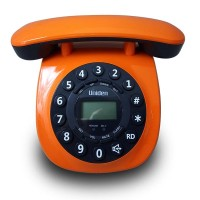 Uniden Single Line Telephone AT8601 orange