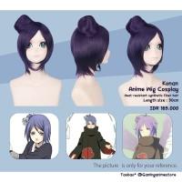Konan akatsuki Anime wig cosplay Naruto shippuden