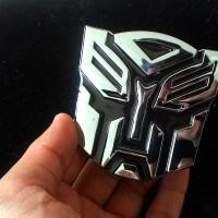 Jual Emblem Transformers Autobots Chrome/ Transformer Autobot Chrom Otobot Murah