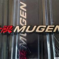 Emblem Mugen Merah Chrome/ Chrom Krum