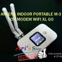 Jual ANTENA INDOOR M-3 MODEM MOBILE WIFI MIFI 4G HUAWEI E5577C E5577 XL GO Murah