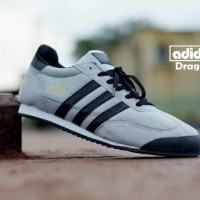 sepatu adidas dragon abu putih