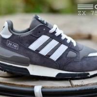 Sepatu Adidas ZX750 Abu List Putih