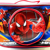 Jual Lunch Bag / Tas Bekal Kotak Spiderman LBK08S (Jinjing & Selempang) Murah