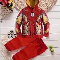 Jual Baju Setelan Anak Laki Laki Umur 4 Tahun [st iron man DR] Murah