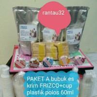 Jual Paket A (bubuk es krim Frizco+cup plastik 60 ml+tutup (paper) Murah