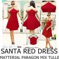 Jual SANTA RED DRESS (PARTY DRESS, SEXY DRESS, MINIDRESS) Murah