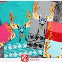 kaos deer christmas (kaos murah)