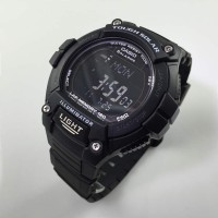 jam tangan pria casio w-s220-1b tenaga matahari tough solar hitam ori