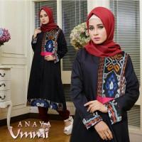 set 3in1 anaya hijab gamis hitam