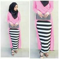 MAXY GITA PINK set hijab gamis syari bergo