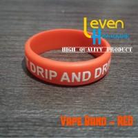 Vapeband RED / Vape Band / Pelindung Tank / Anti Slip Silicone Merah